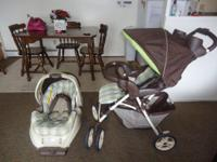 the stroller and car seat are in great shape barely