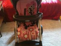 Includes stroller, car seat, and base Fabric pattern: