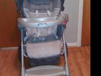 Graco stroller, holds up to 50 lbs. Also accommodates
