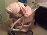 Pink Graco Travel System Stroller for Sale- $150
