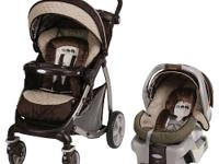 The Stylus Travel System Stroller in Elefanta offers