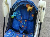 Great portable little travel swing ... Jungle Pals