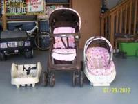 This travel system includes the stroller, car seat and