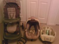 Graco travel system with stroller, infant carrier and 1