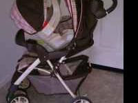 Selling a pink & brown Graco travel system like NEW!!