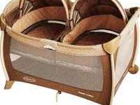 Graco Twin Bassinet and Play yard! In like new