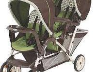 Stroller for two. Must see! Contact Regina  Text, email