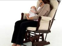 The Graco Wood Glider and matching ottoman will provide