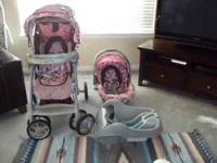 GRACO infant car seat, stroller, and base. Infant car