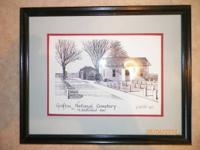 2 Drawings of Grafton National Cemetery One of Old