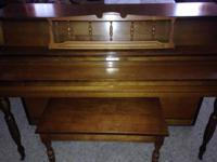 For Sale-Grand Console Piano-GREAT CONDITION Color-