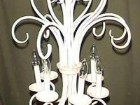 GRAND FRENCH COUNTRY CHANDELIER, TALL ELEGANT IVORY