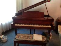 I have a Vose & Sons Grand Piano and bench for sale.