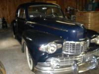 1947 Lincoln Zephyr 2 door coupe-- all initial! A real
