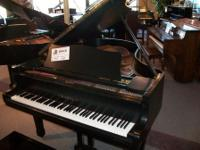 Pre-Owned Hanil G-3H 6' grand piano in ebony satin This