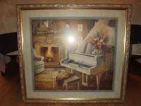 Large and Heavy Sofa Picture with grand piano,