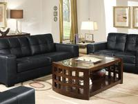 GRAND RAPIDS SOFA SET * Covered in genuine bonded