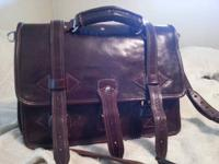 I'm selling a Grand Sahara leather briefcase I bought a