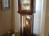 This is great grandfather clock was made by Colonial at