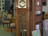 Grandfather clock has the second dial and the moon