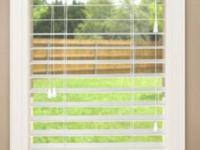 "GRANDWOOD 2"" FAUX WOOD BLINDS - WHITE - 35""x72"" - NEW"