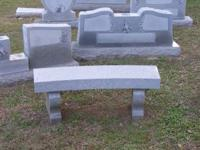 These benches are from a monument company display. They