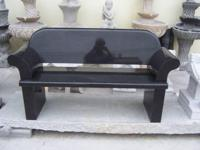 Granite yard bench $850. I have a heavy hand sculpted