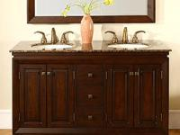 New Open Box Double Sink Bathroom Vanity: 55 inches