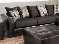 4174 Graphite Charcoal Sectional by Delta Covered in a