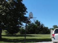 Graphite Slam Dunk Basketball Hoop and Pole. For