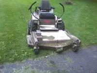 here is a 2001 grasshopper 725 with vac unit .there is