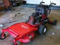"Gravely Stand behind 36"" cut mower w/ velke. Freshly"