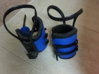 Gravity boots great for stretching and exercising on