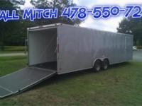 Gray 8.5 x 24 TA3 Enclosed Trailer with Electrical