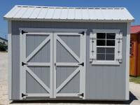 8'x12' Side Utility Storage Shed, portable building.