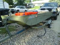 wonderful boat for fishing or duck hunting. 14 foot tri