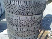 A great pair of High Traction M & S tires , 185/70R 14.