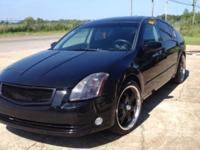 GREAT LOOKING BLACK MAXIMA! MILEAGE-148353! A/C! CD