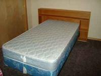 Single box spring & mattress, frame and handmade