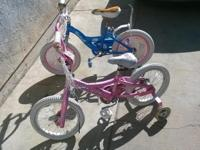 "2 Semi New Girls 16"" Tires Starter Bikes.Great Shape !"