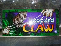 "I have a marquee from a Las Vagas slots ""Leopard Claw"""