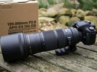 I am selling a Sigma 120-300mm F2.8 APO EX DG OS Lens.