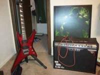 Selling my jackson warrior wrxt and line 6 amp with