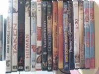 27 DVDs and lil wayne's i am not a human being CD.