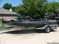 1989 Ranger 364V 17 foot pro style bass boat with 150