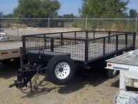 Great trailer with expanded metal sides, tool box,