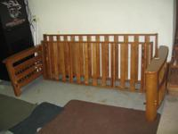 Wood futon (minus cushion), new  condition, great wood