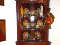 Beautiful great grandmas wall Curio cabinet . 2piece