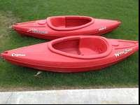 Two used Waterquest Kayaks that have seen little use.