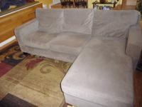 I bought this faux suede couch brand new for $400 two